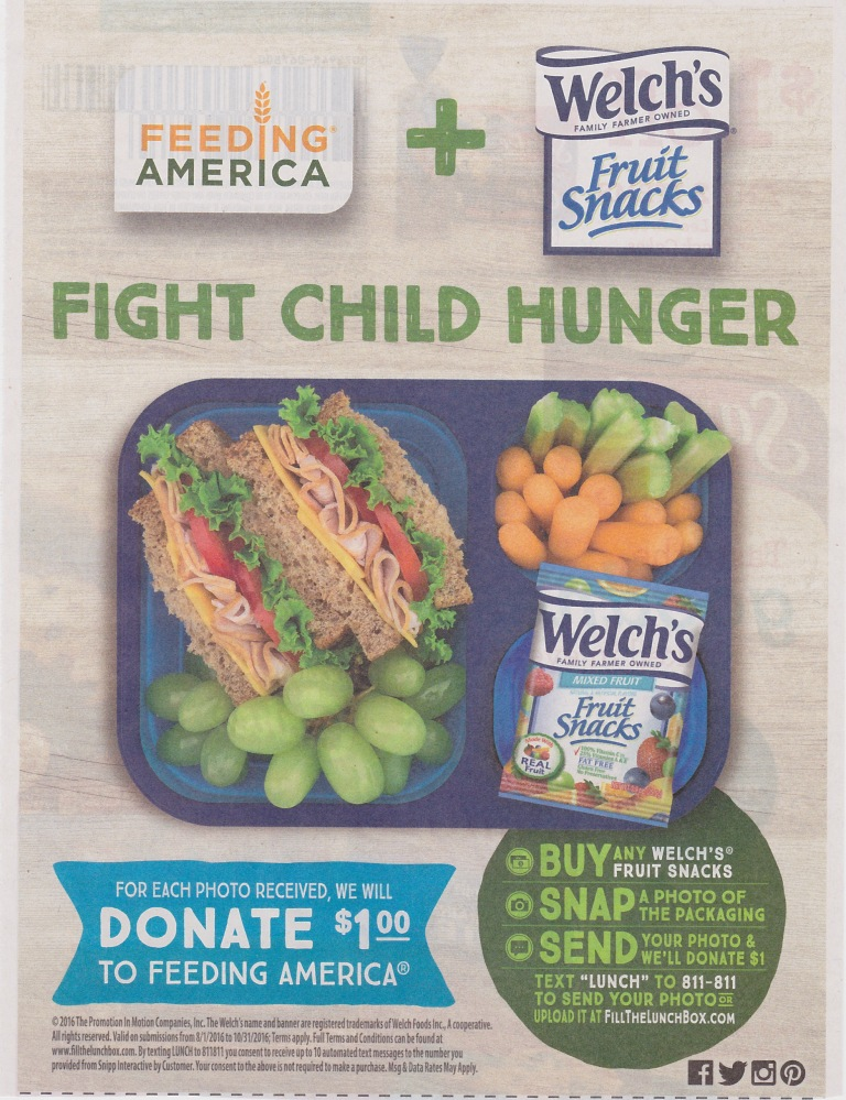 Welch Fruit Snacks Fight Hunger